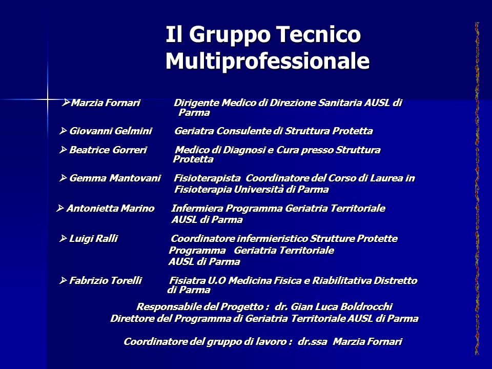 Il Gruppo Tecnico Multiprofessionale