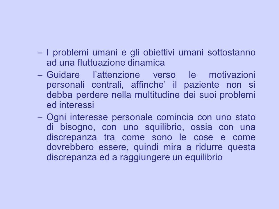 I problemi umani e gli obiettivi umani sottostanno ad una fluttuazione dinamica