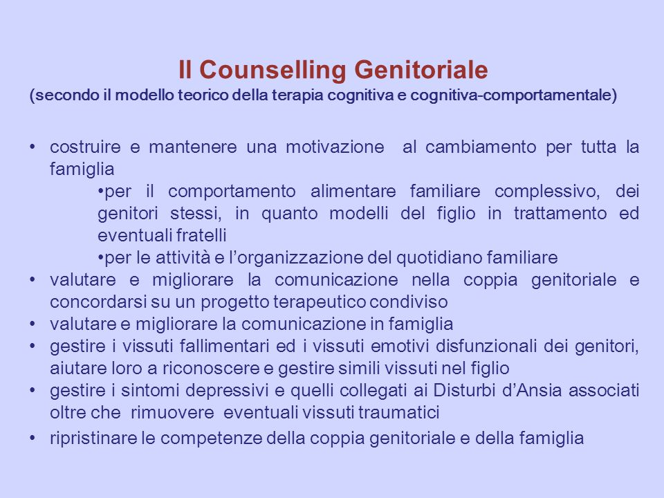 Il Counselling Genitoriale
