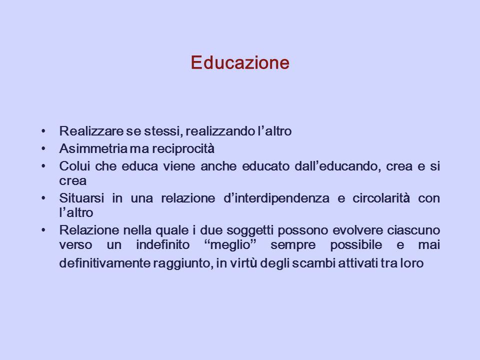 Educazione Realizzare se stessi, realizzando l'altro