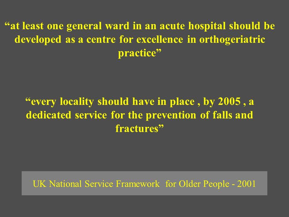 UK National Service Framework for Older People - 2001
