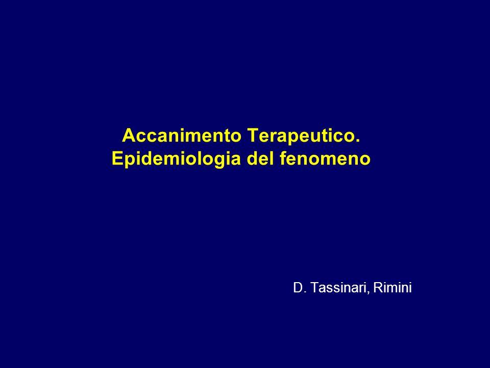 Accanimento Terapeutico. Epidemiologia del fenomeno