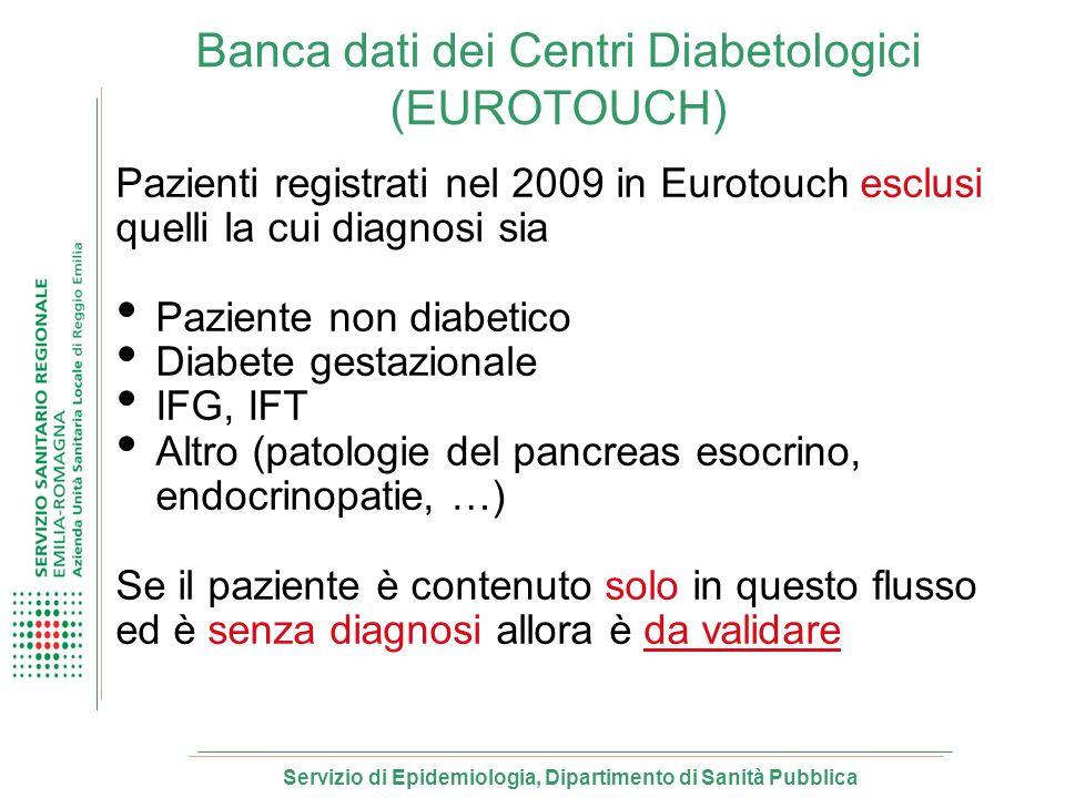 Banca dati dei Centri Diabetologici (EUROTOUCH)