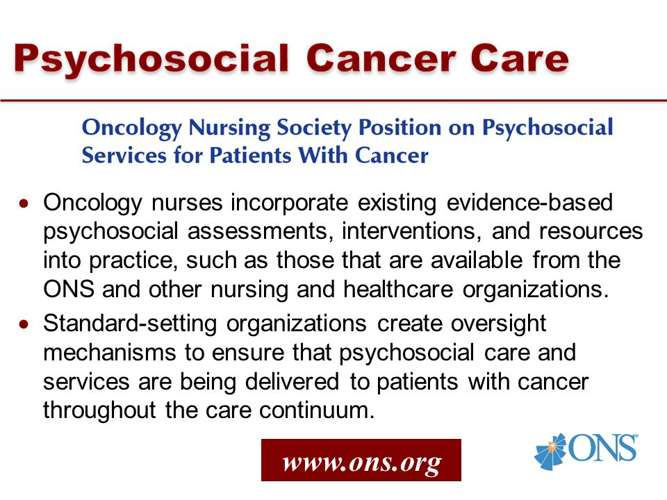 Psychosocial Cancer Care