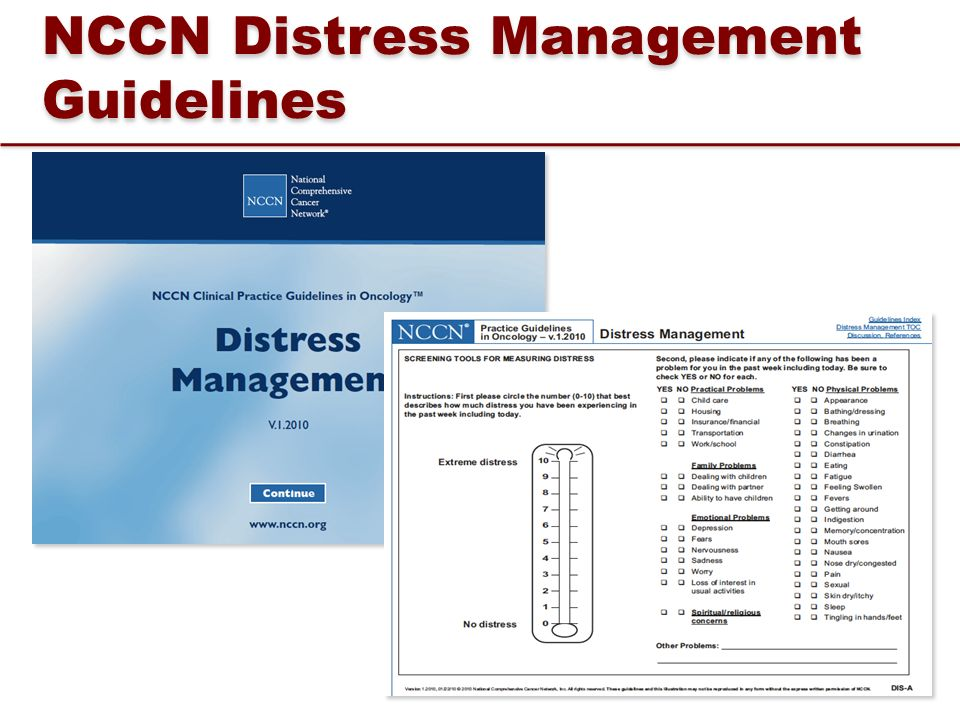 NCCN Distress Management