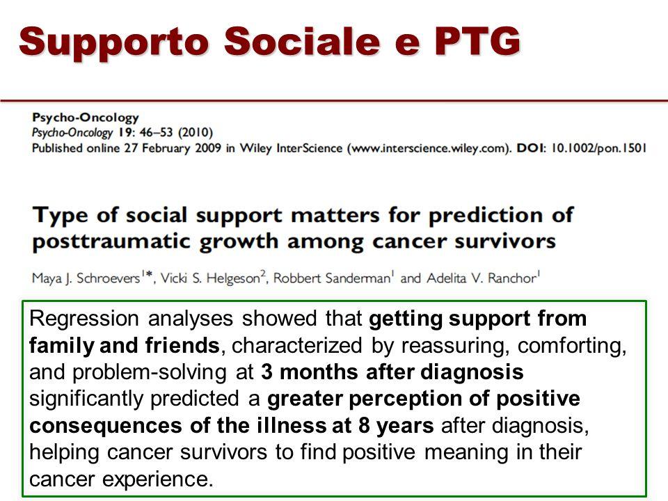 Supporto Sociale e PTG