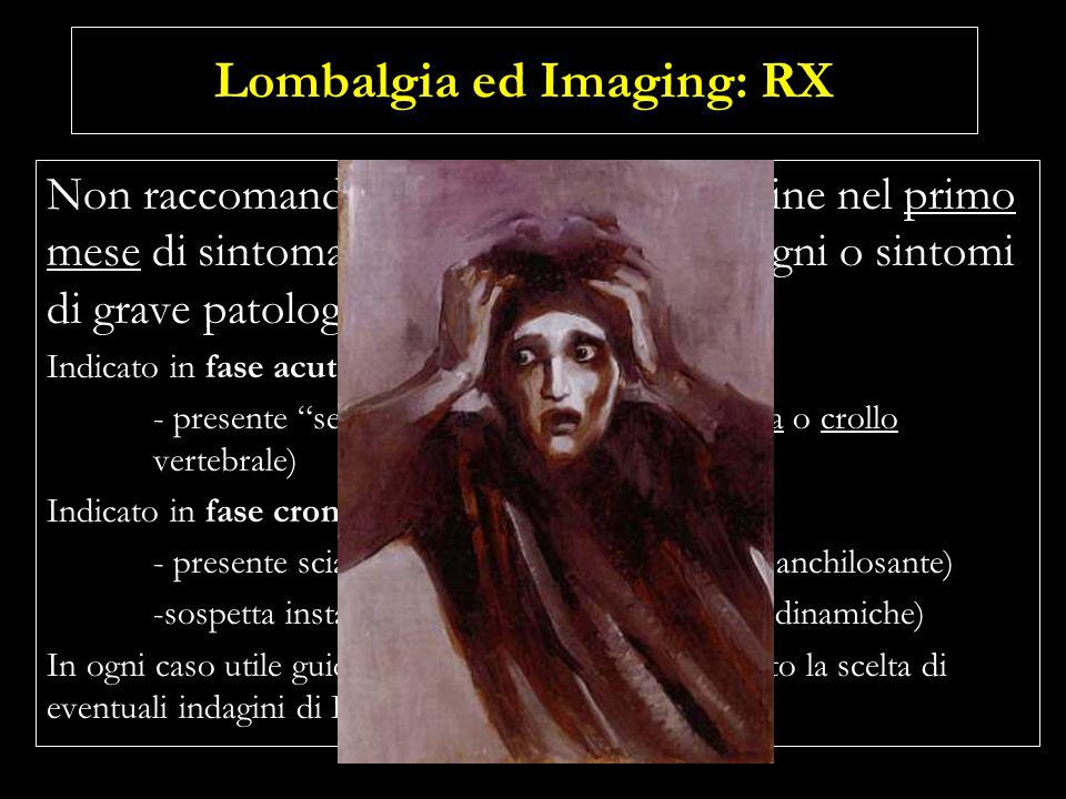 Lombalgia ed Imaging: RX
