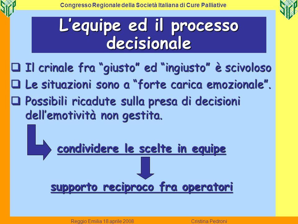 L'equipe ed il processo decisionale