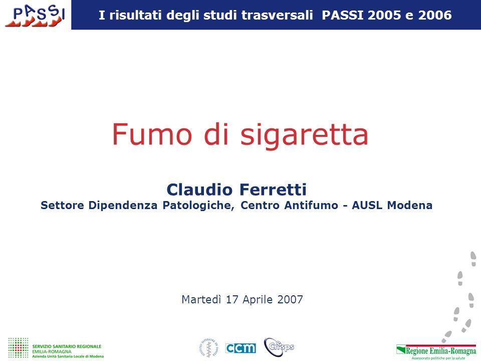 Fumo di sigaretta Claudio Ferretti