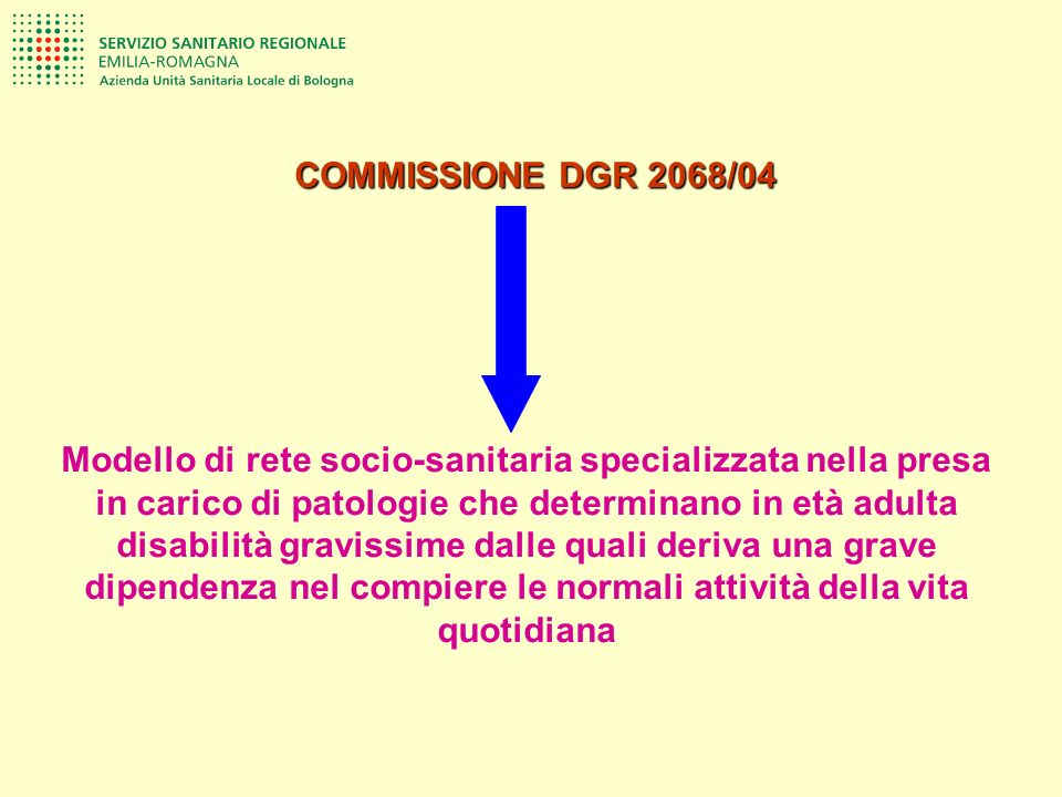 COMMISSIONE DGR 2068/04