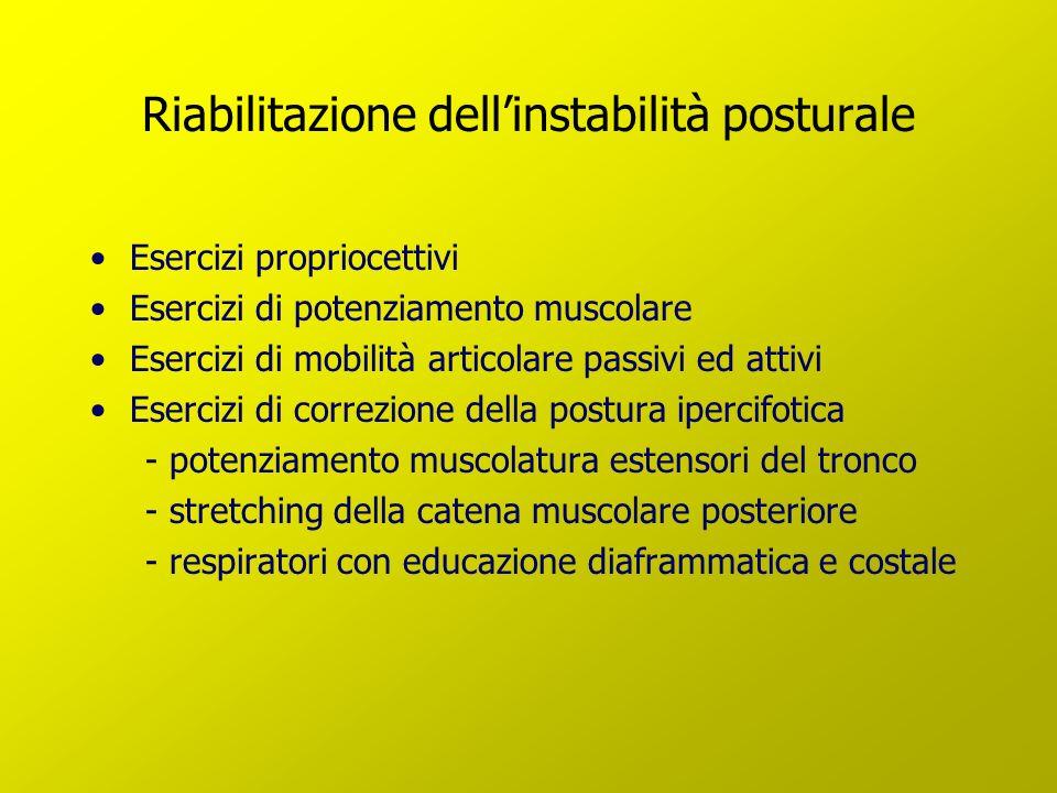Riabilitazione dell'instabilità posturale