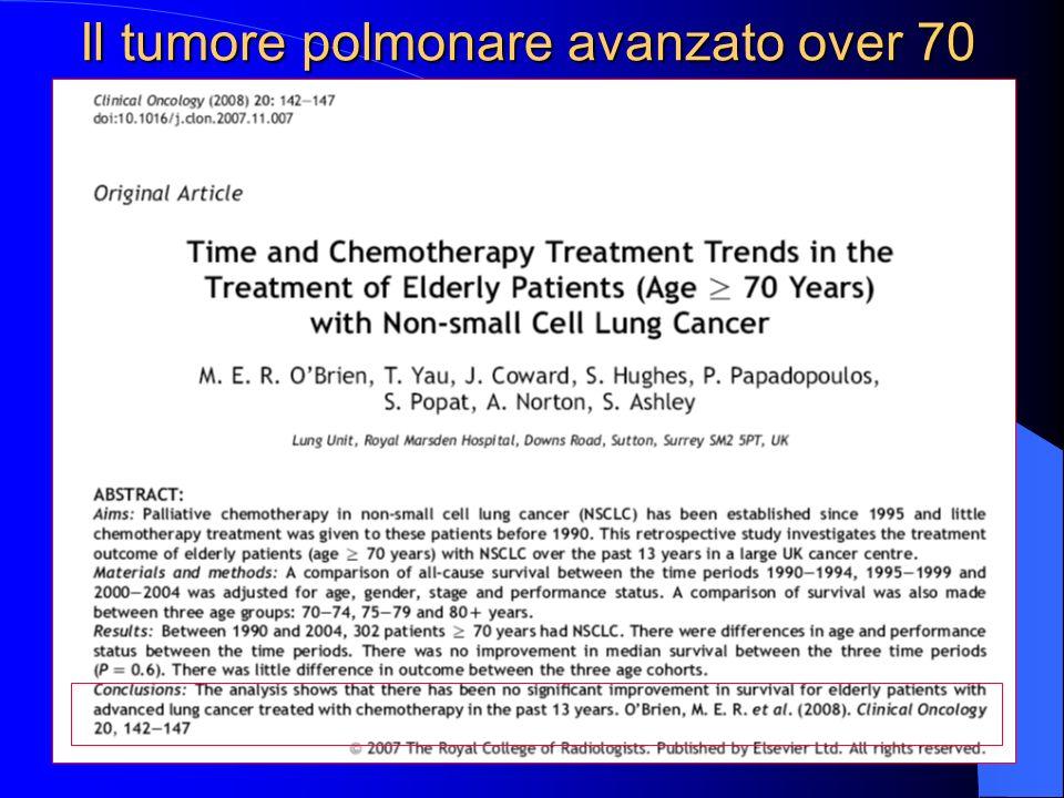 Il tumore polmonare avanzato over 70