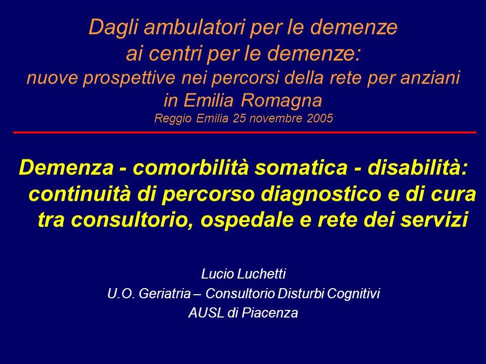 U.O. Geriatria – Consultorio Disturbi Cognitivi