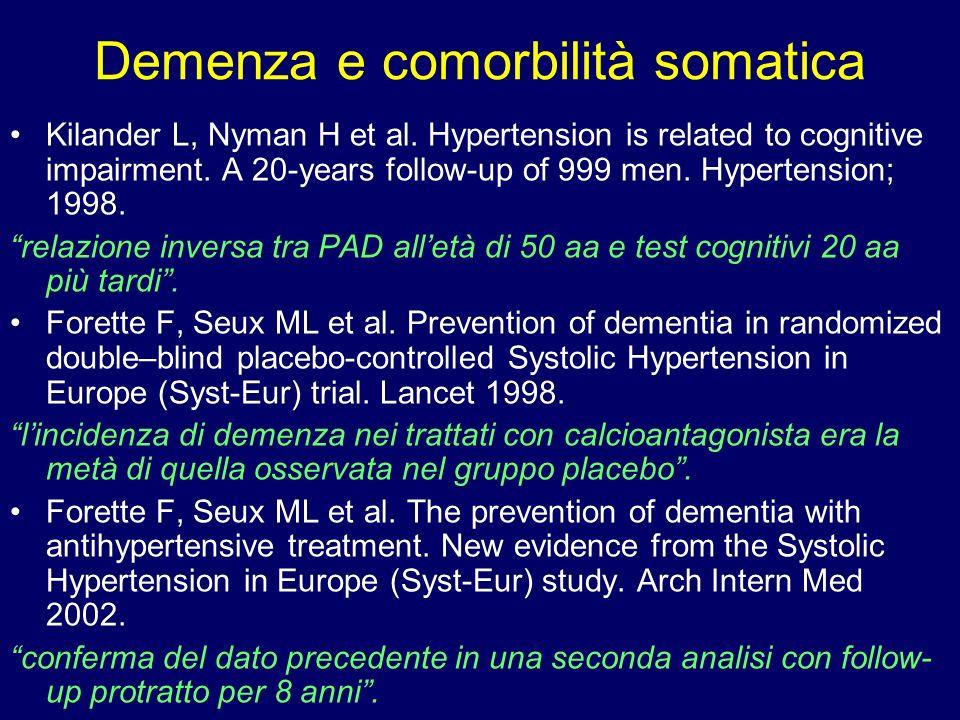 Demenza e comorbilità somatica