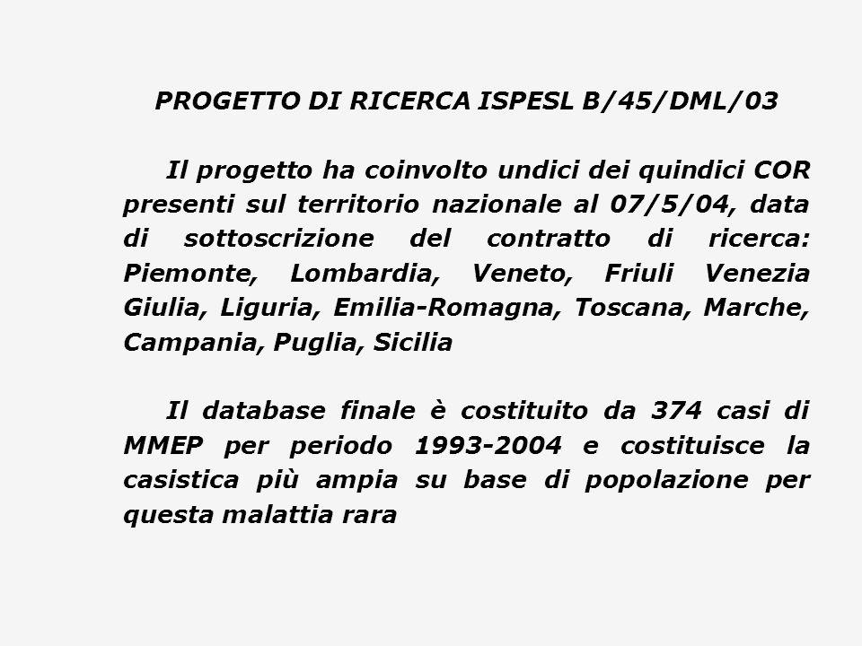 PROGETTO DI RICERCA ISPESL B/45/DML/03