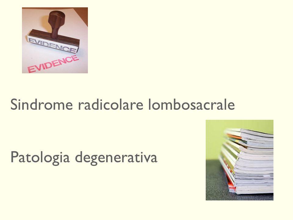 Sindrome radicolare lombosacrale