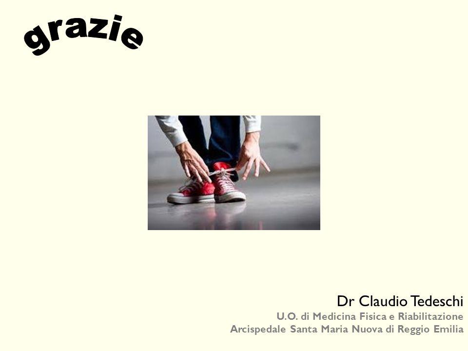 grazie Dr Claudio Tedeschi U.O. di Medicina Fisica e Riabilitazione
