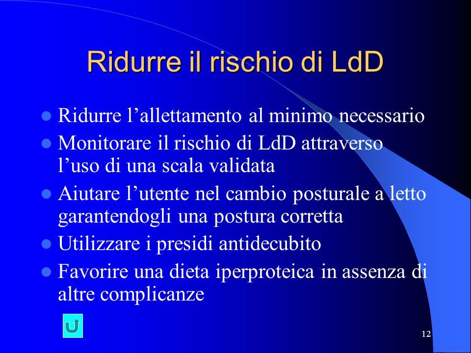 Ridurre il rischio di LdD