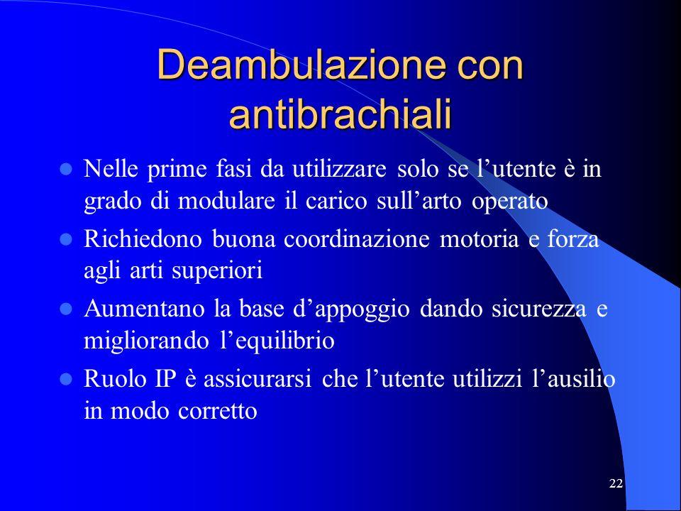 Deambulazione con antibrachiali