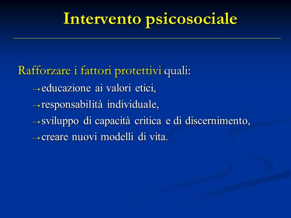 Intervento psicosociale