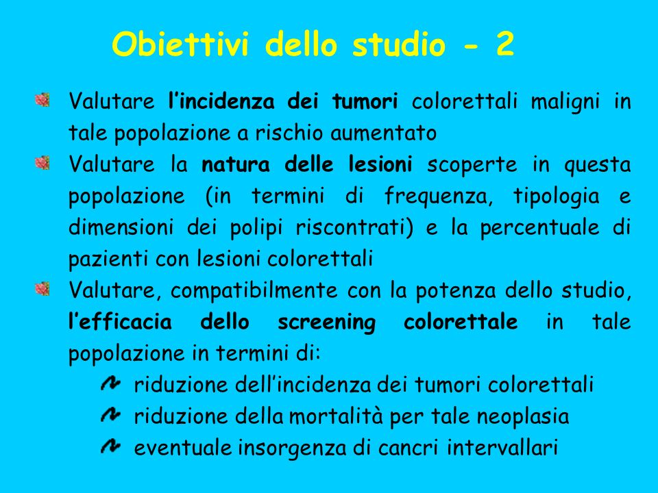 Obiettivi dello studio - 2