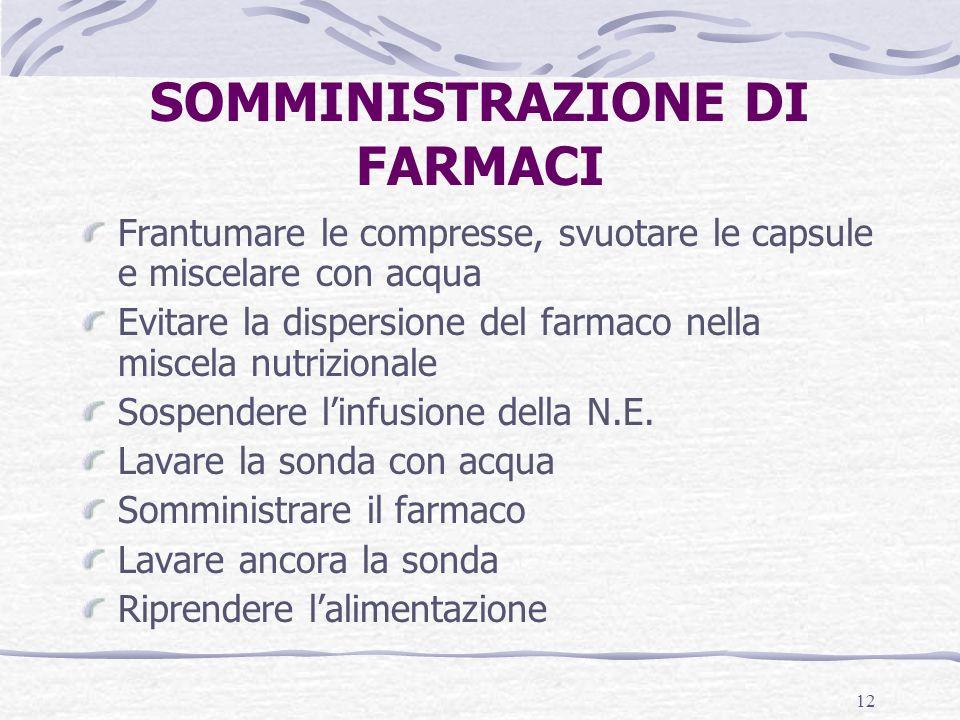 SOMMINISTRAZIONE DI FARMACI