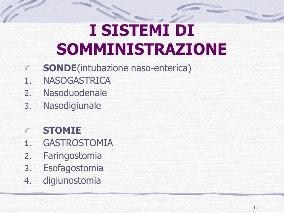 I SISTEMI DI SOMMINISTRAZIONE