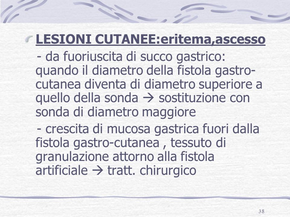 LESIONI CUTANEE:eritema,ascesso
