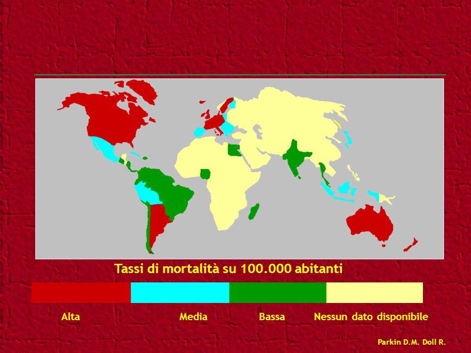 Tassi di mortalità su 100.000 abitanti
