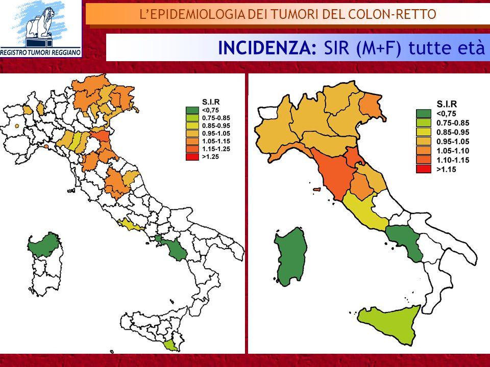 L'EPIDEMIOLOGIA DEI TUMORI DEL COLON-RETTO