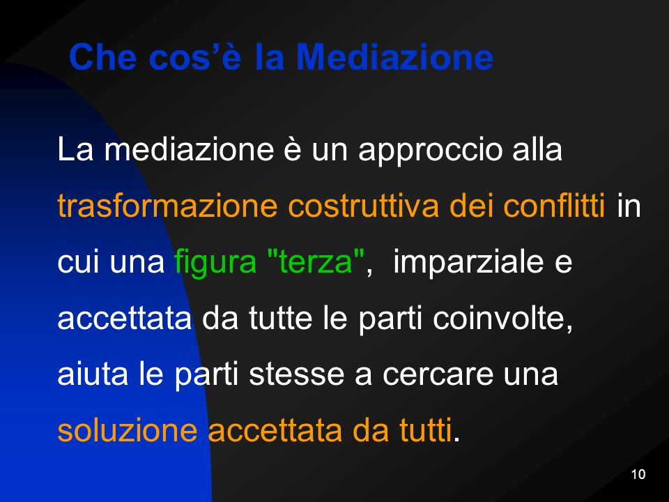 Che cos'è la Mediazione