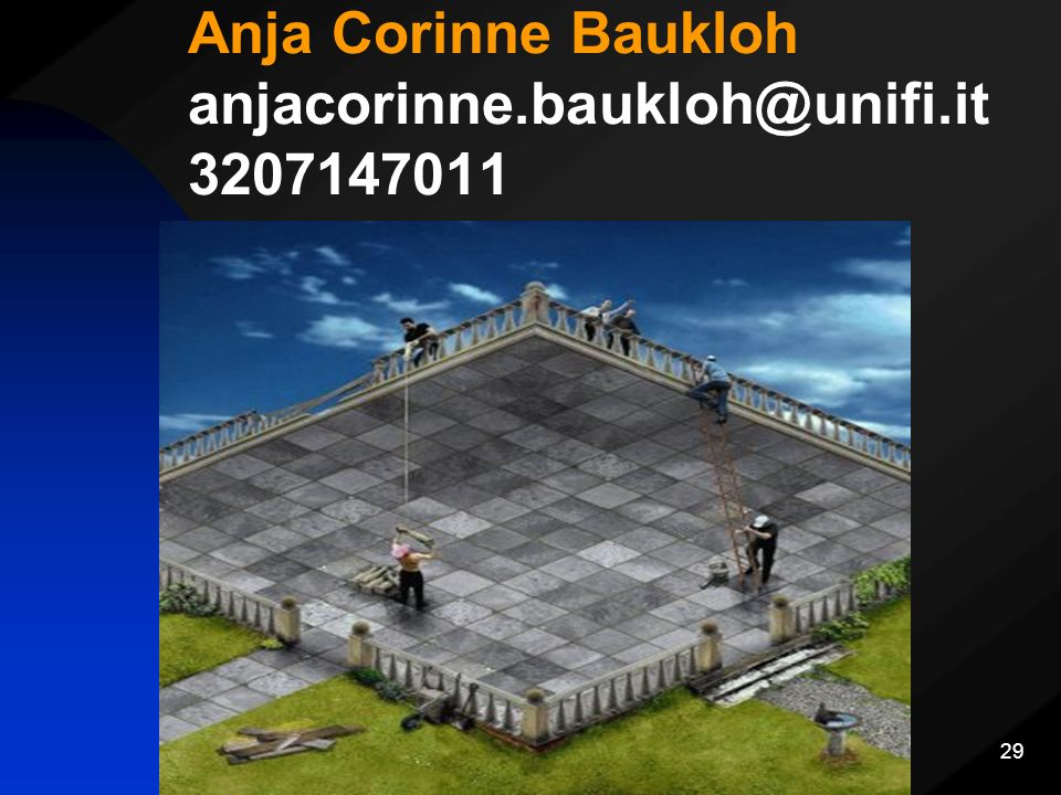 Anja Corinne Baukloh anjacorinne.baukloh@unifi.it 3207147011