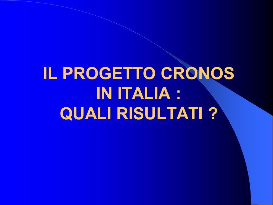 IL PROGETTO CRONOS IN ITALIA : QUALI RISULTATI