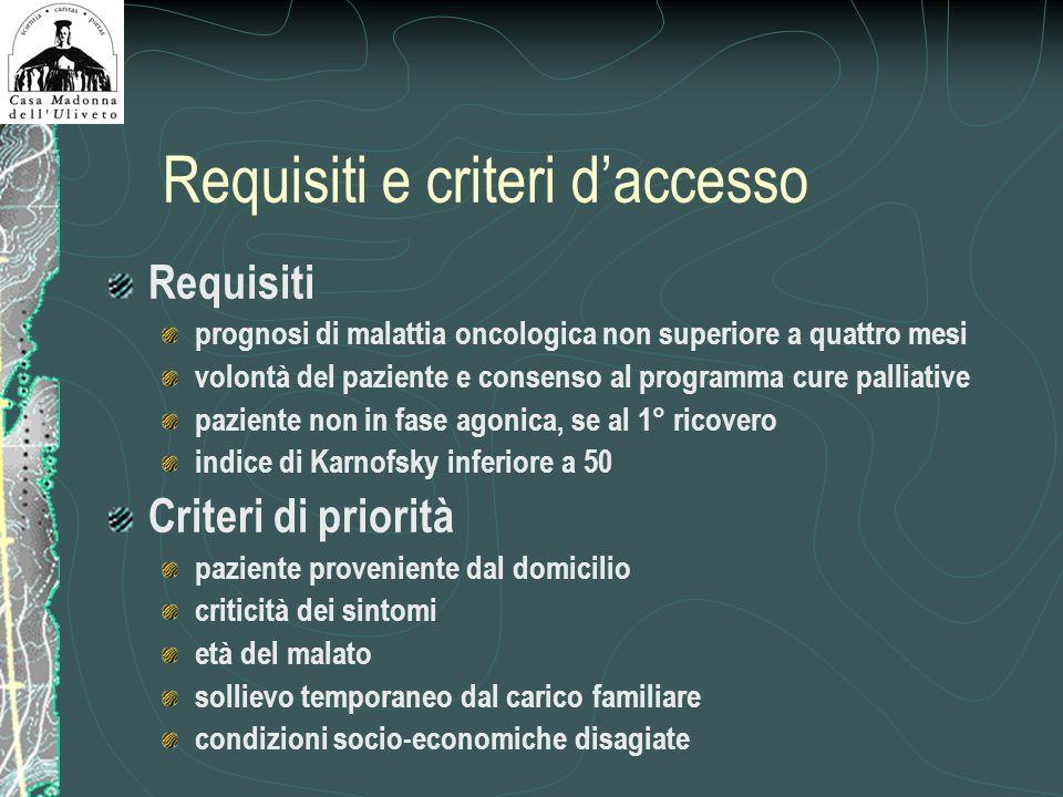 Requisiti e criteri d'accesso