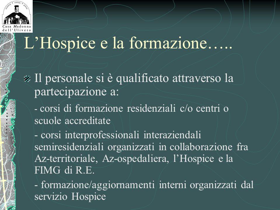 L'Hospice e la formazione…..