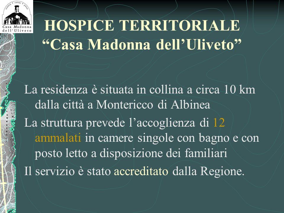 HOSPICE TERRITORIALE Casa Madonna dell'Uliveto