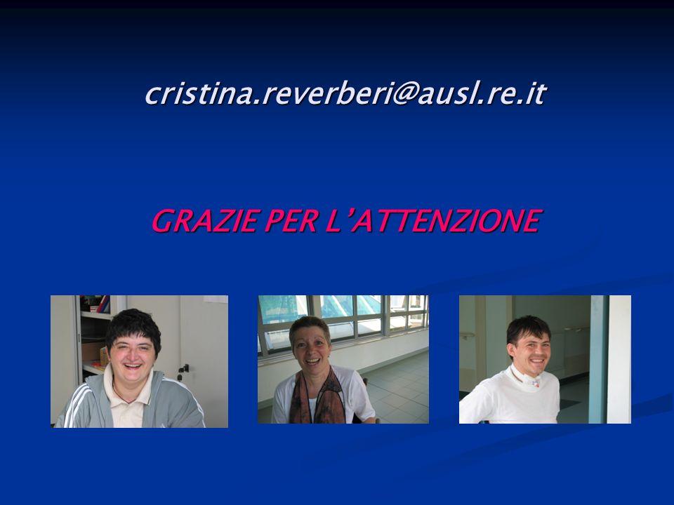 cristina.reverberi@ausl.re.it GRAZIE PER L'ATTENZIONE