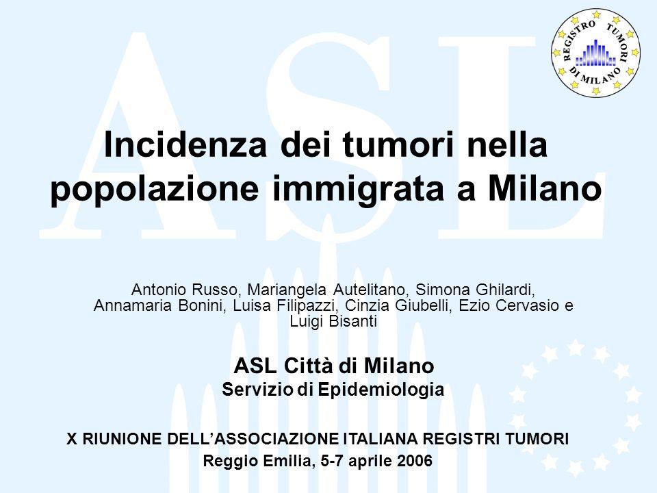 Incidenza dei tumori nella popolazione immigrata a Milano
