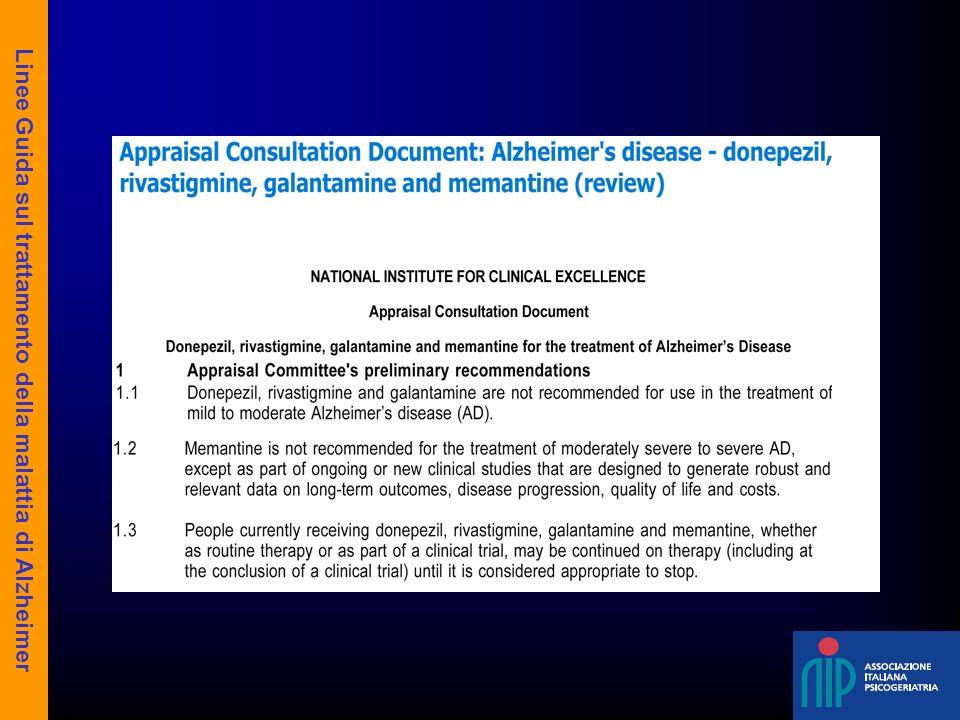 Linee Guida sul trattamento della malattia di Alzheimer