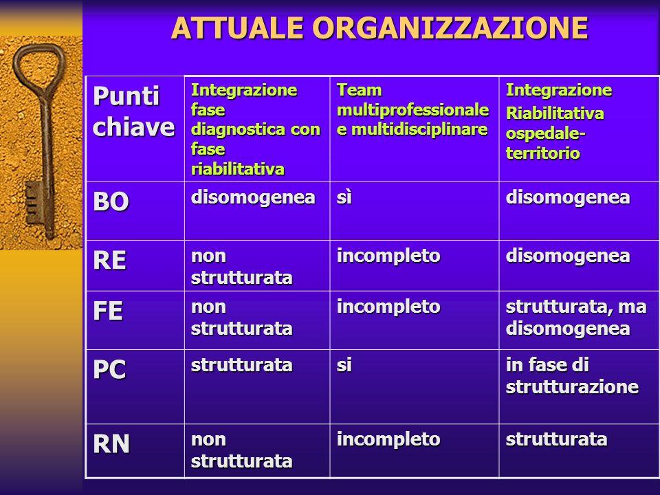 ATTUALE ORGANIZZAZIONE