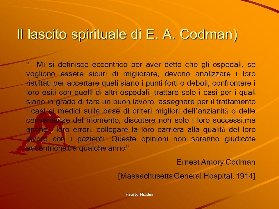 Il lascito spirituale di E. A. Codman)