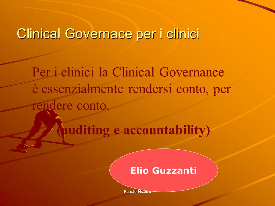 Clinical Governace per i clinici