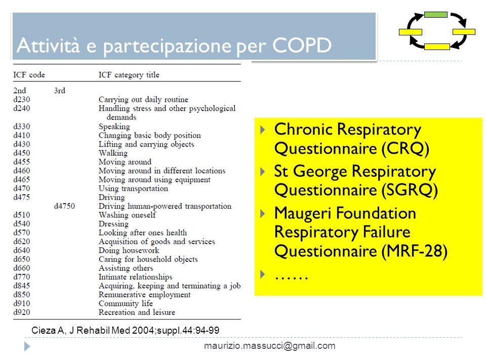 Attività e partecipazione per COPD