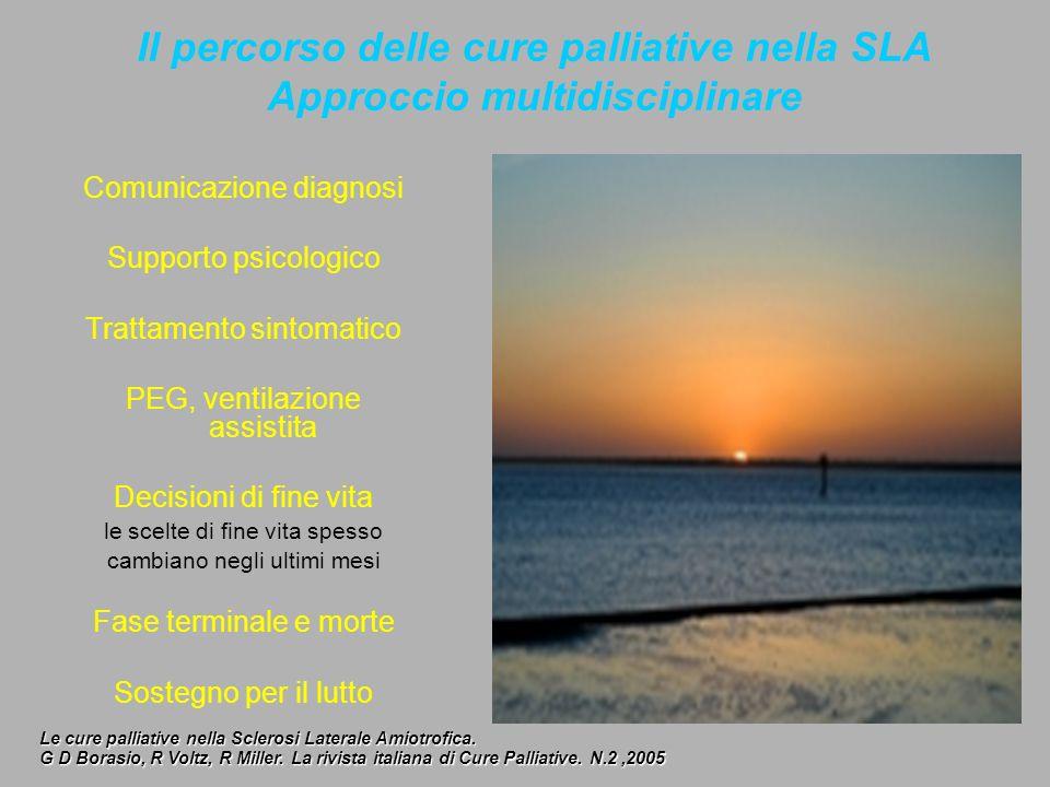 Il percorso delle cure palliative nella SLA Approccio multidisciplinare