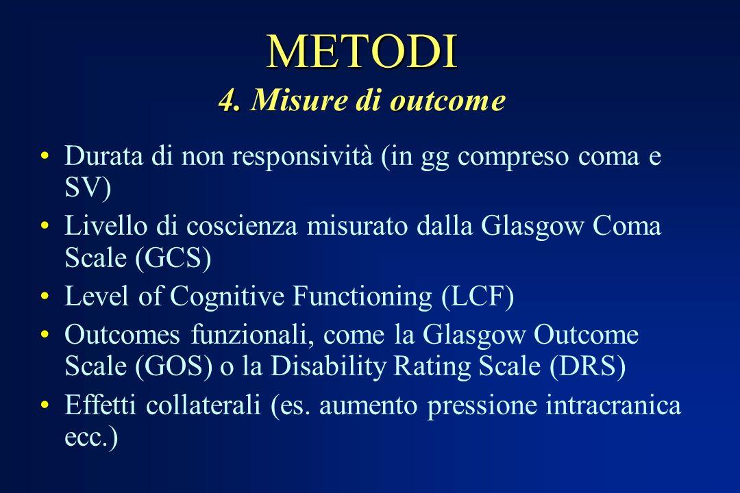 METODI 4. Misure di outcome