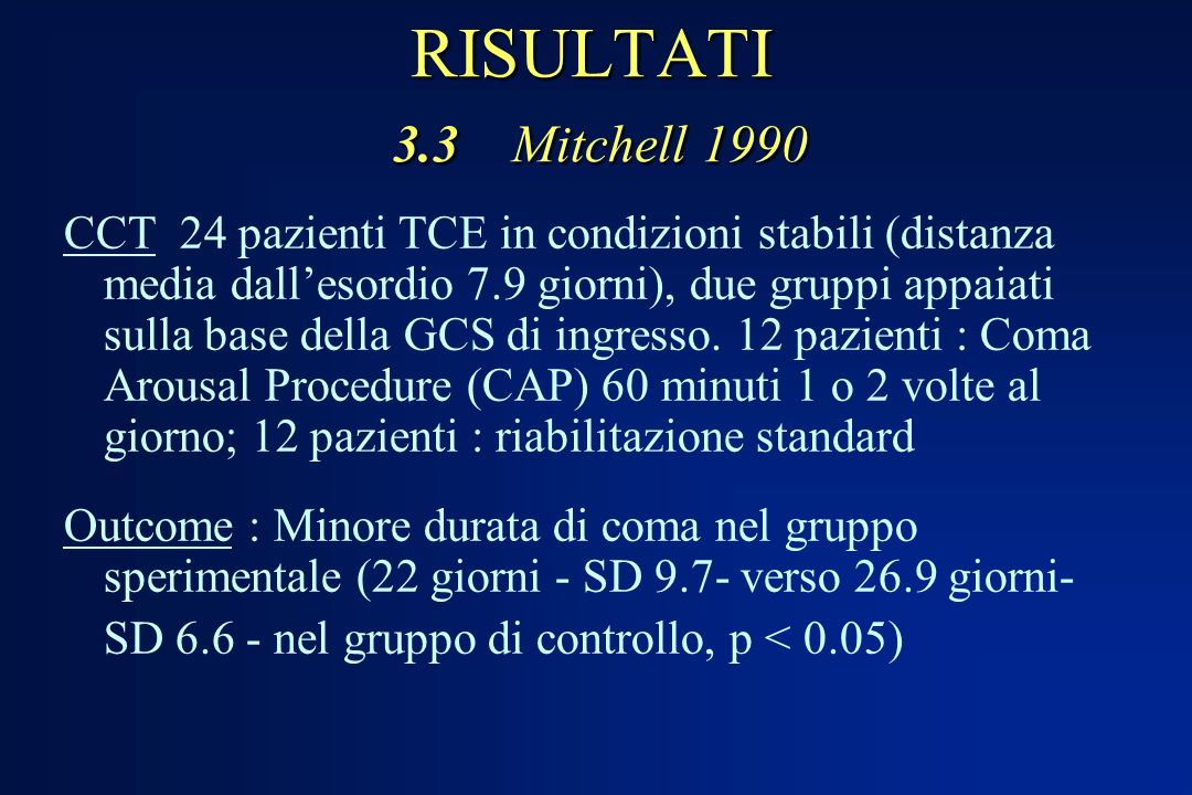 RISULTATI 3.3 Mitchell 1990
