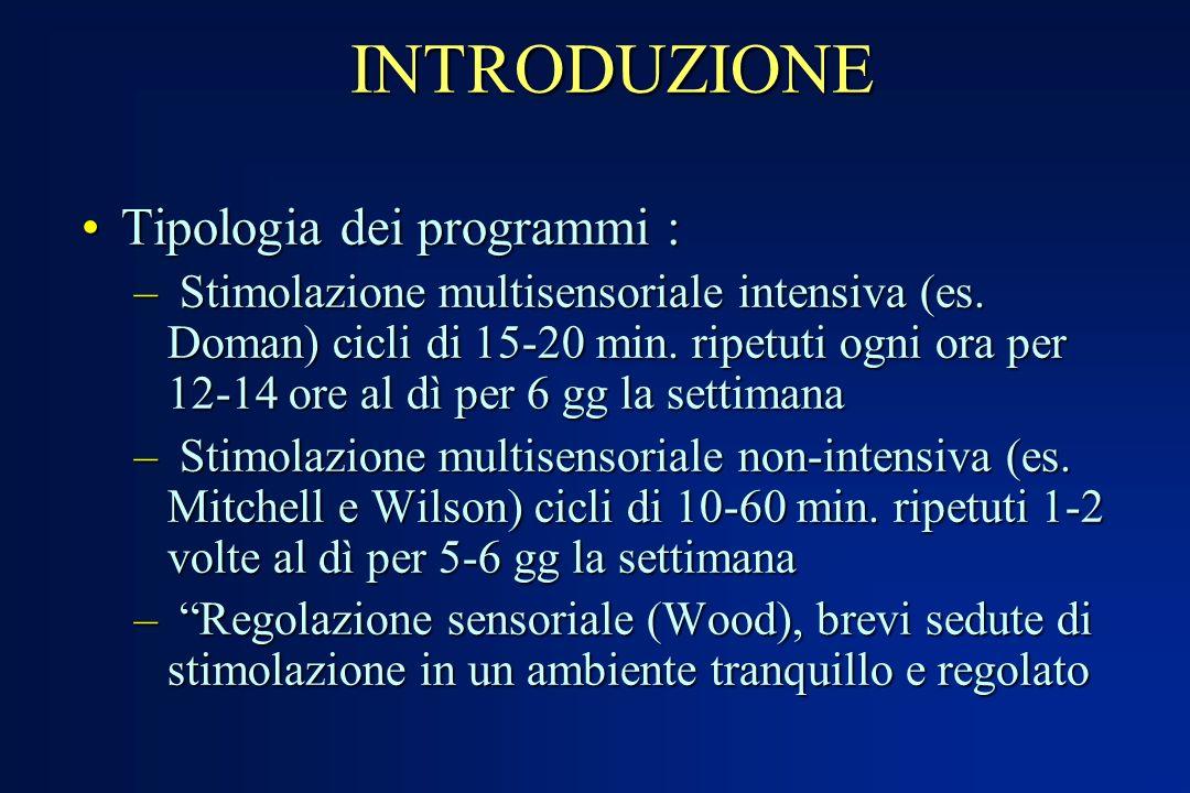 INTRODUZIONE Tipologia dei programmi :