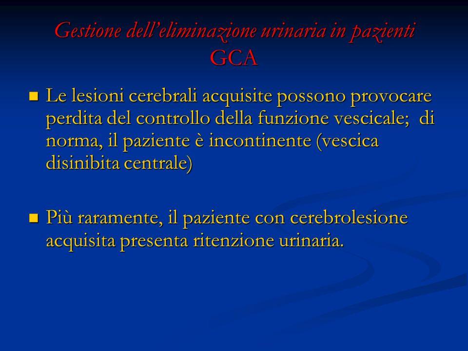 Gestione dell'eliminazione urinaria in pazienti GCA