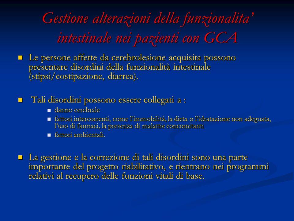 Gestione alterazioni della funzionalita' intestinale nei pazienti con GCA