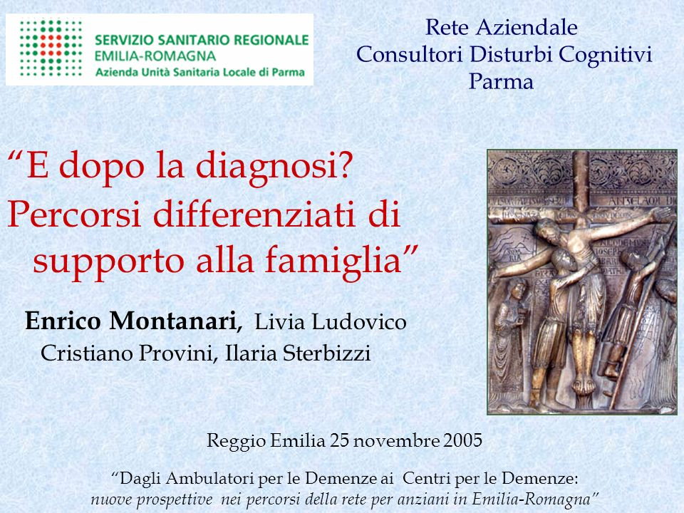 Rete Aziendale Consultori Disturbi Cognitivi Parma